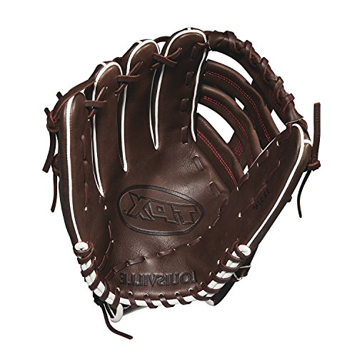 Louisville Slugger 2018 Tpx Outfield Baseball Glove - Left Hand Throw Dark Brown/Red, ()