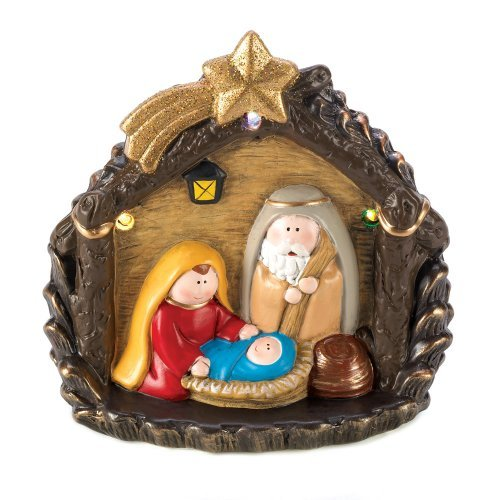 Outdoor Lighted Nativity Figures in US - 2