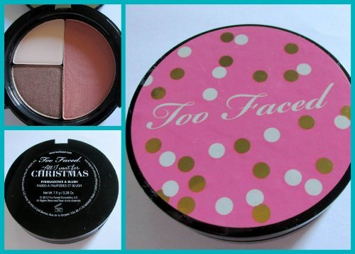 (Too Faced ALL I WANT FOR CHRISTMAS Eye Shadow and Blush Compact Trio)