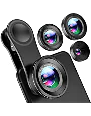 Amir 3 in 1 Fisheye Lens Plus Macro Lens Plus 0.4X Super Wide Angle Lens, Clip on Cell Phone Lens Camera Lens Kits for iPhone 6s, 6, 5s, Galaxy & All Other Smartphones