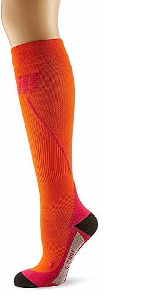 Womens Running Compression Socks - CEP Long 2.0 (Sunset/Pink) IV by CEP