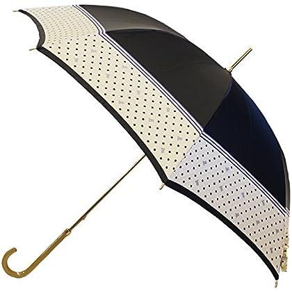 ランバンコレクション ポリエステルサテンプリント水玉柄 長傘