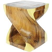 Petit tabouret en bois/petite table d'appoint: Cadeau de Noël et lieu de discussion unique pour la maison.