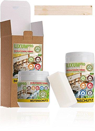 LIXUM BIENEN BEUTENSCHUTZ LASUR BIO (farblos) 3 Liter = 10 Beuten (90m²) natürlicher Holzschutz - von Imkern empfohlen! Bienenverträglich, biologisch, ökologisches, rein natürlich (laborgeprüft).