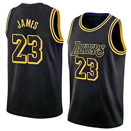 d9880d2d3c1 Mitchell   Ness Men s Los Angeles Lakers Lebron James Fast Break Replica  Jersey  23 (Black