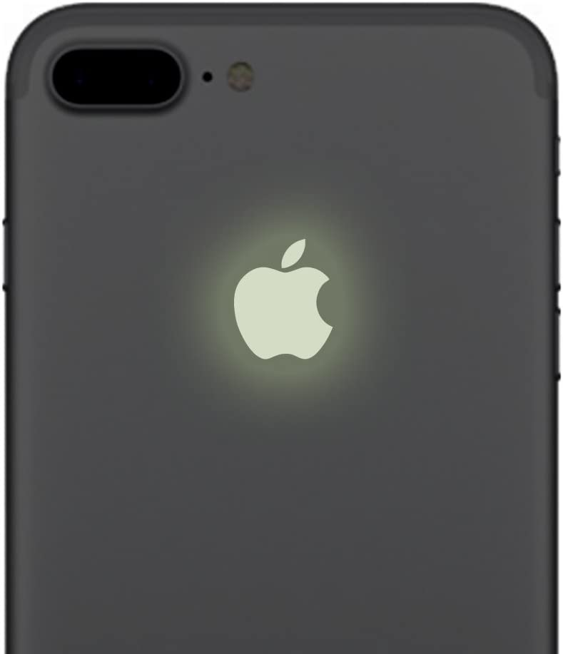 iPhone 7 Glow in the Dark Apple Color Changer Decal Regular and Plus - Vinyl Decal Sticker for Phone