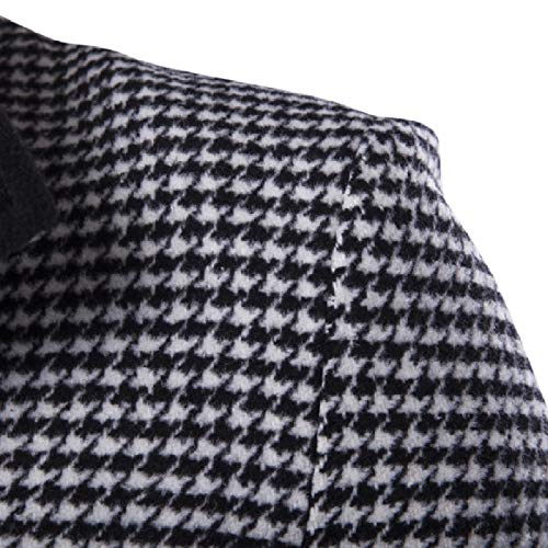 Long Md Men RkBaoye Color Plaid Woolen Down Overcoat Coat Collision 2 Turn Collar c84Fw0d4q