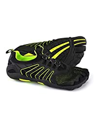 Body Glove Men's 3T Barefoot Hero Water Shoe, Black/neon Yellow