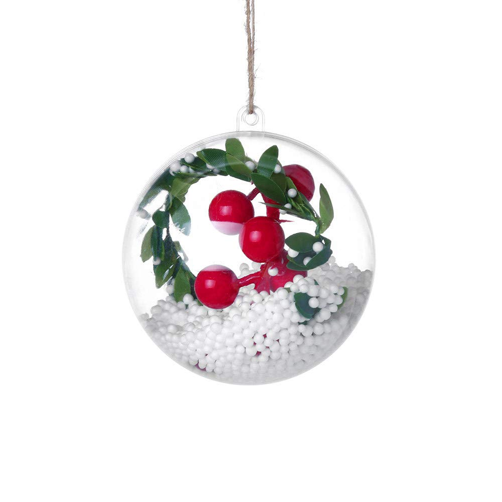 Xmas Decorations Clearance Sale, Libermall Holiday Pendant Decoration Ball Christmas Xmas Hanging Art Craft Ornaments, Perfect for Party Christmas Indoor Outdoor Christmas Tree Decor