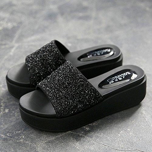 ZHANGRONG-- Zapatillas de pedrería Mujer verano Sandalias de verano Zapatillas sandalias Sandalias para mujer Sandalias de moda Sandalias de moda Sandalias de fiesta Sandalias atractivas ( Color : A , B