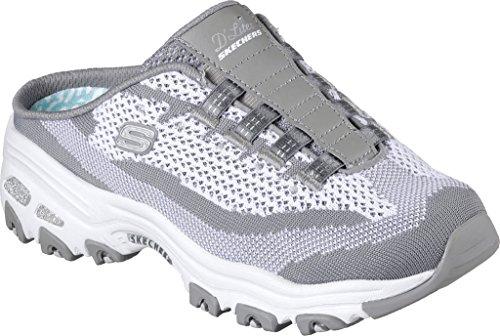 Skechers Sport Damen D'Lites Slip-On Mule Sneaker Grau weiß
