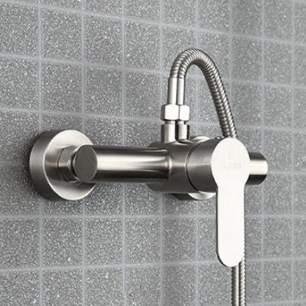 B Diongrdk Stainless Steel Shower Faucet Hot and Cold Bathtub Faucet Into Wall Bathroom Triple Tap Faucet Valve Concealed,C