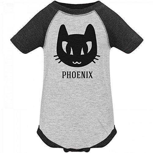Toddler Grey Kitten Girls Costumes (Baby Phoenix Black Cat Halloween Costume: Infant Vintage Raglan Bodysuit)