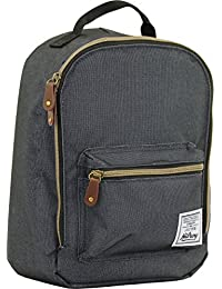 Hilroy Heritage Bowie Lunch Bag, Insulated, 5-1/2 x 9 x 10-1/2 Inches, Black (89532)