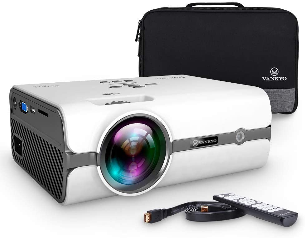 B07D467KPD VANKYO Leisure 410 LED Projector with 3600 Lux, Carrying Bag and HDMI Cable, Portable Projector Supports 1080P, HDMI, USB, VGA, AV, SD Card, Compatible with PS3/PS4 51fdNFaeOZL