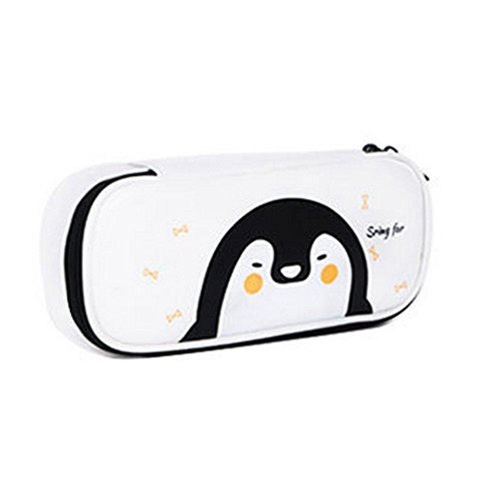 cosanter estuche soporte Cute pengun patr/ón cremallera piel sint/ética maquillaje gafas bolsa para Teen Girl