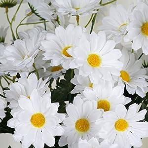 BalsaCircle 88 Silk Daisies - 4 Bouquets - Artificial Flowers Wedding Party Centerpieces Arrangements Bouquets Supplies 2