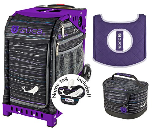 Zuca Sport Bag Moby Dick with Gift Lunchbox and Seat Cover (Purple Frame)