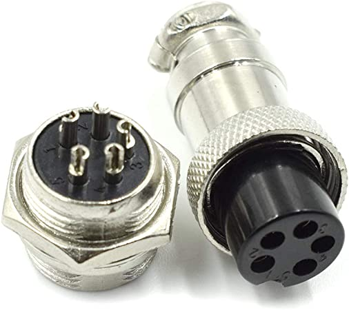 2 Sets 4 Pin Electrical Connectors Male to Female Socket Plugs