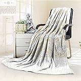 AmaPark Digital Printing Blanket Turkish Oriental Tilework Star Shaped Embellished Islamic Pastel Design Summer Quilt Comforter