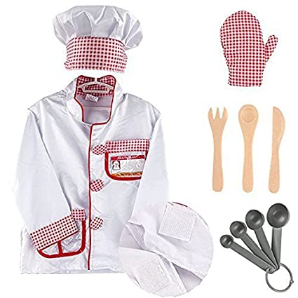 31107f866c5 MaMiBabys Costume Role Play Kit Set Dress Up Gift Educational Toy For  Halloween Activities Holidays Christmas (Chef Costume)  Amazon.co.uk  Toys    Games