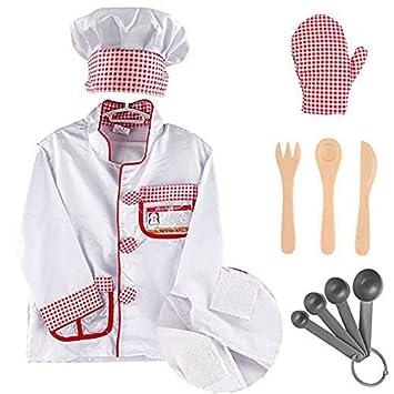 Mamibabys Disfraz De Chef Con Funcion De Juego Juego De Cocina