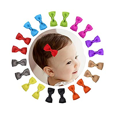 """Shemay 10 Pairs 2"""" Tiny Boutique Grosgrain Ribbon Hair Bow Alligator Clips Barrettes for Baby Girls Toddlers Kids"""