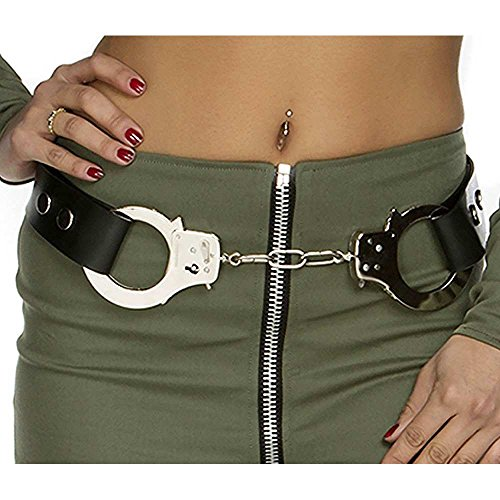 [Forplay Women's Handcuff Belt, Black, One Size] (Forplay Costumes 2016)