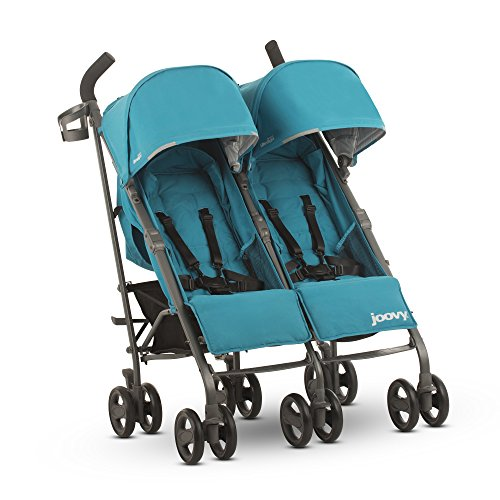 (JOOVY Twin Groove Ultralight Umbrella Stroller, Turquoise)