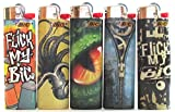 Lot of 5 Flick My Bic Full Size Lighters Rare Set # 5