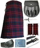 Mens Macdonald Modern Tartan 7 Piece Casual Kilt Outfit Size: 30'' - 32''