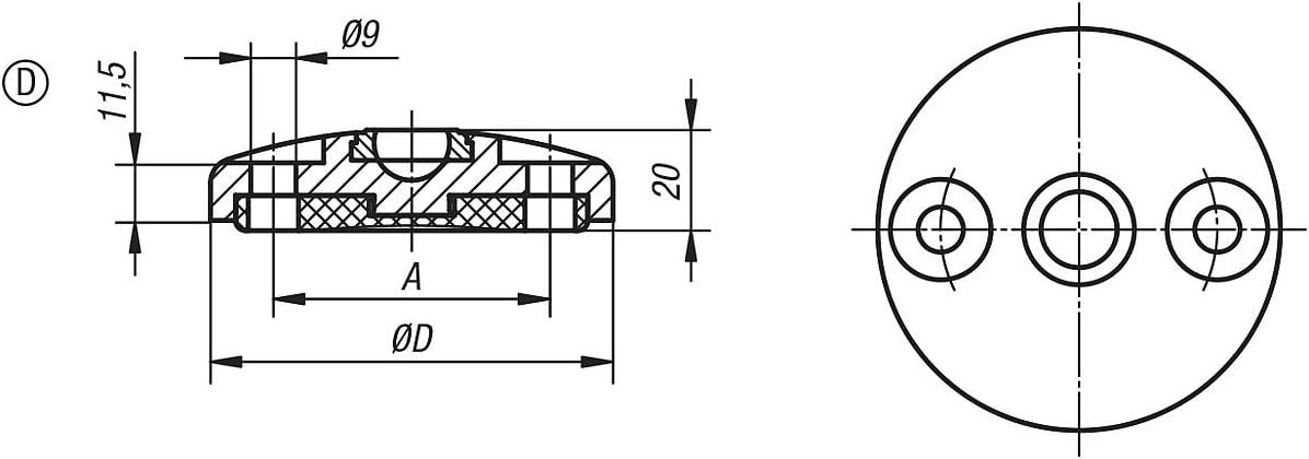 D Stainless Steel k0416.41202 Pack of 1 Tilt Anti-Slip Plate Form