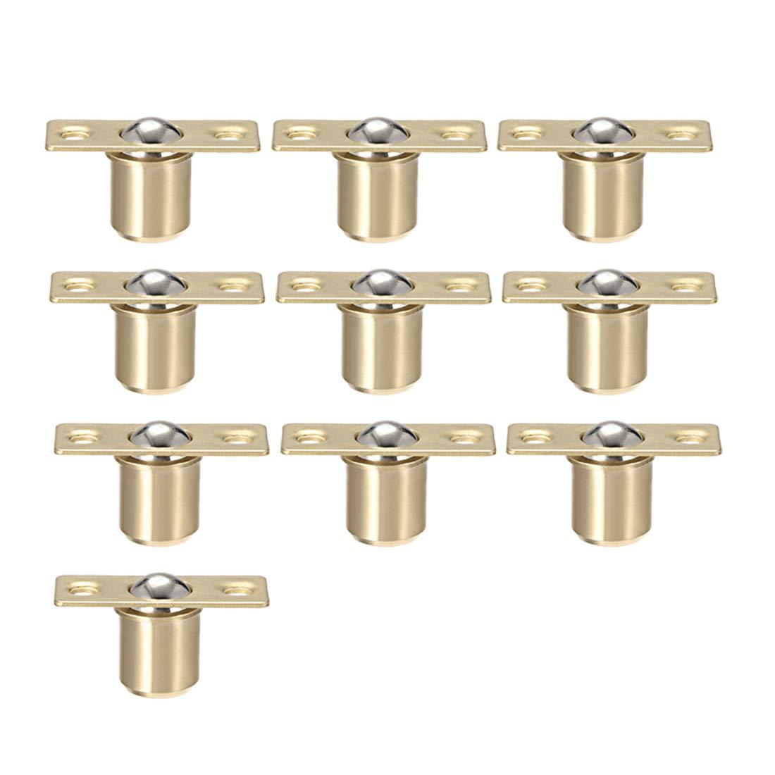 uxcell Door Cabinet Closet Drawer 12.5mm Shaft Dia Brass Ball Catch Latch Catcher 10 Sets