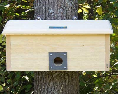 Coveside Horizonal Winter Roost. Safe and Spacious Bird House for Protection from Predators and Cold Weather. Made in the USA.