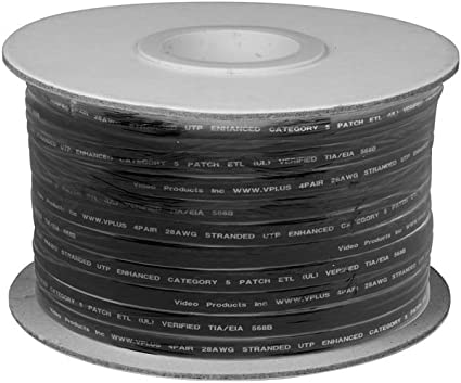 SF Cable 1000ft CAT5E 350MHz UTP Stranded Wire Bulk Cable Gray