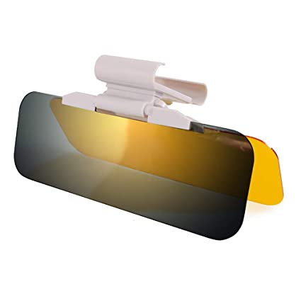 Night Anti-Glare Visor Universal Sun Anti-UV Block Visor Non Glare Anti-Dazzle Sunshade Mirror Goggles Shield for Day and Night Driving Anti-Glare Car Visor TURN RAISE Car Sun Visor Extender