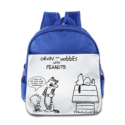Price comparison product image HYRONE Calvin And Hobbes With Dog Kids Children Shoulders Bag For 1-6 Years Old RoyalBlue