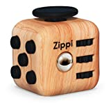 Toys : Best Fidget Cube By Zippi. Prime Desk Toy. Reduce Anxiety And Stress Relief For Autism, ADD, ADHD & OCD. (Wood Color)