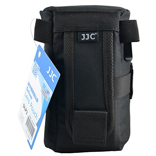 JJC 80 x 152 mm DLP-2 Water-Resistant Deluxe Lens Pouch for Camera