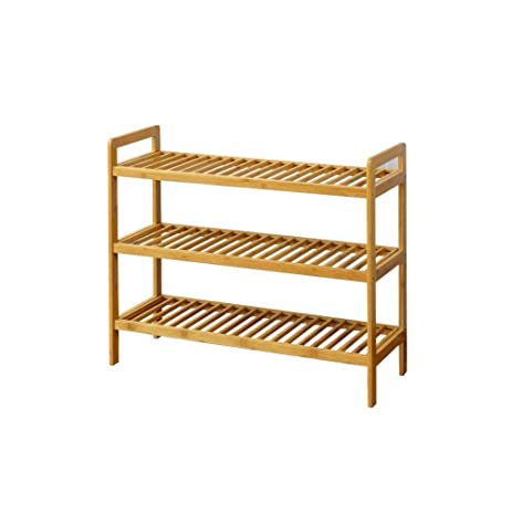 The Urban Port Three Tier Bamboo Shoes Rack