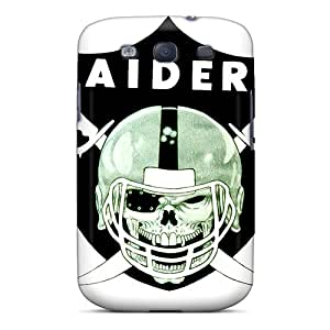 IanJoeyPatricia Samsung Galaxy S3 Scratch Resistant Cell-phone Hard Cover Support Personal Customs Vivid Oakland Raiders Pattern [Qcw8373obAl]