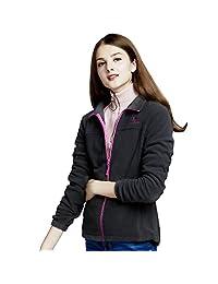 CAMEL Crown Polar Fleece Jackets Women Full Zip Coat - Warm, Lightweight