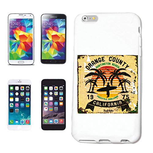 "cas de téléphone iPhone 7S ""ORANGE COUNTY CALIFORNIE FREESTYLE SURF BEACH SURFBOARDS LONGBOARD ONDES SURF Beginner Shop"" Hard Case Cover Téléphone Covers Smart Cover pour Apple iPhone en blanc"