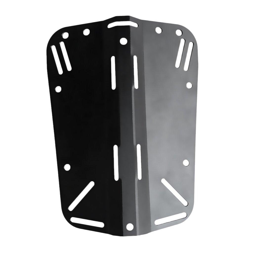 Baosity Deluxe Aluminum Scuba Diving Back Plate Backplate Gear Accessories Fits 2'' Standard Webbing Strap