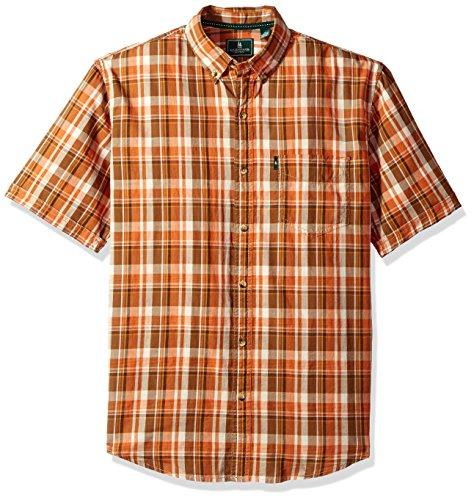 G.H. Bass & Co. Mens Upland Spacdye Button Down Short Sleeve Shirt