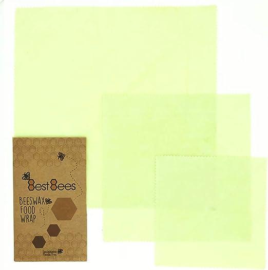 Envoltorio de cera de abeja reutilizable respetuoso con el medio ...