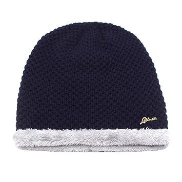 XPFF Sombreros De Invierno para Hombres Gorro De Punto para Mujer Sombrero  De Hombre Baggy Cálido Capo Caps Sombrero De Capucha Gorros 81ff3d7c411