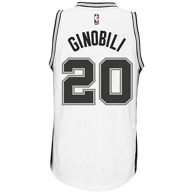 cheap for discount 9d7ad 7b3b3 Ginobili Men's White Black Spurs Swingman Jersey Shirt 17/18 ...