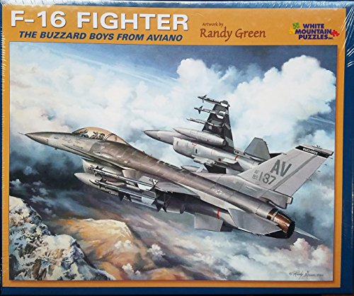 F-16 Fighter Buzzard Boys From Aviano - 1000 Piece Jigsaw Puzzle by White Mountain -