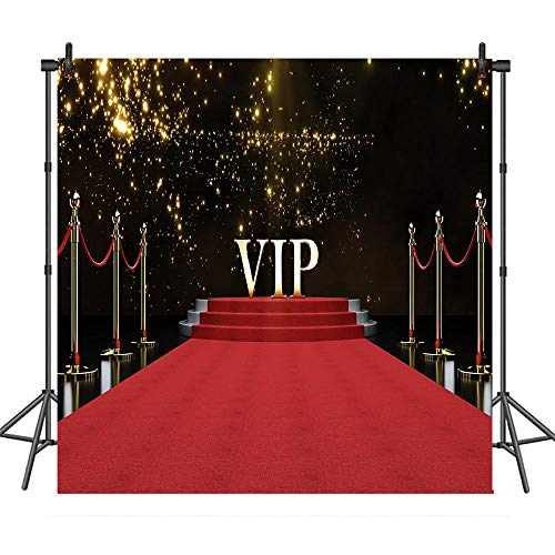 COMOPHOTO Red Carpet Background for 8x8ft Vinyl Photography Backdrops VIP Stage Stairs Photo Background Studio Prop